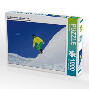 Snowboarder auf Arlberg in Lech 1000 Teile Puzzle quer