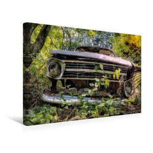 Premium Textil-Leinwand 45 cm x 30 cm quer Rostlaube Opel Kadett