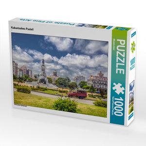 CALVENDO Puzzle Kubanisches Pastell 1000 Teile Lege-Größe 64 x 4