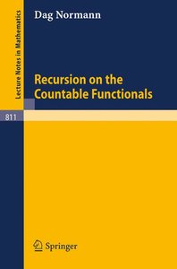 Recursion on the Countable Functionals