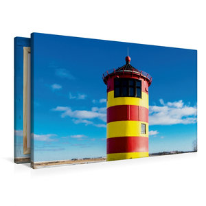 Premium Textil-Leinwand 90 cm x 60 cm quer Pilsumer Leuchtturm