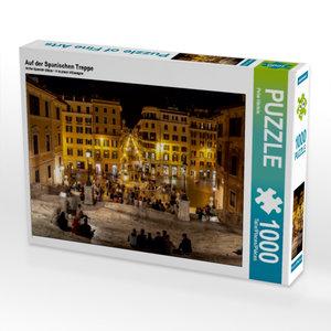 Auf der Spanischen Treppe 1000 Teile Puzzle quer