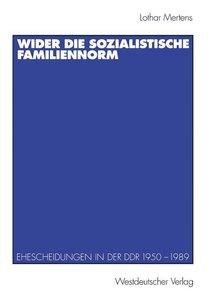Wider die sozialistische Familiennorm
