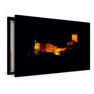 Premium Textil-Leinwand 120 cm x 80 cm quer Schloss Tirol bei Na