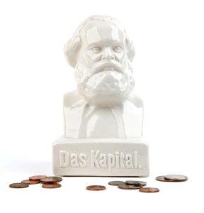 Karl Marx Money Bank weiss