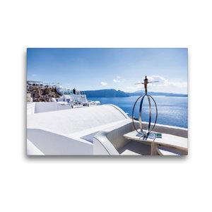 Premium Textil-Leinwand 45 cm x 30 cm quer Skulptur am Meer