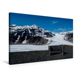 Premium Textil-Leinwand 75 cm x 50 cm quer Salmon Glacier