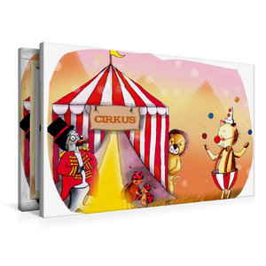 Premium Textil-Leinwand 90 cm x 60 cm quer Hurra, der Zirkus ist