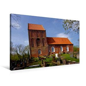 Premium Textil-Leinwand 90 cm x 60 cm quer Schiefer Turm von Suu