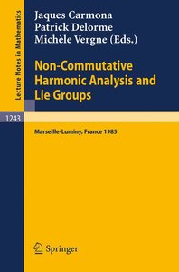 Non-Commutative Harmonic Analysis and Lie Groups