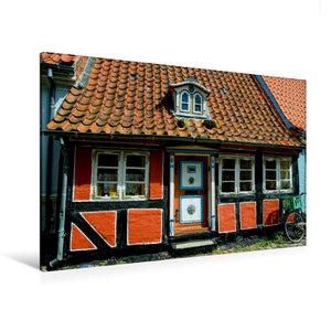 Premium Textil-Leinwand 120 cm x 80 cm quer Altes Haus in Faabor