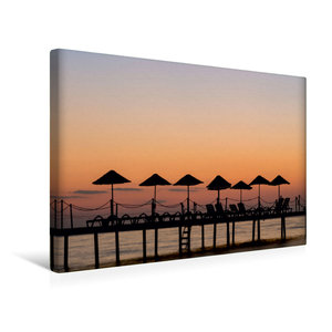 Premium Textil-Leinwand 45 cm x 30 cm quer Sonnenuntergang am Ba