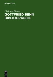 Gottfried Benn Bibliographie