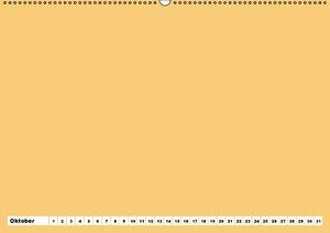 Bunter Bastelkalender (Wandkalender immerwährend DIN A2 quer)