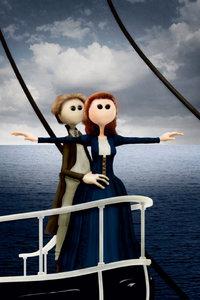 Premium Textil-Leinwand 50 cm x 75 cm hoch Titanic