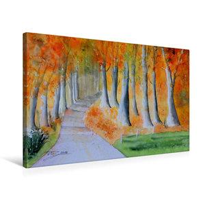 Premium Textil-Leinwand 75 cm x 50 cm quer Herbstzauber