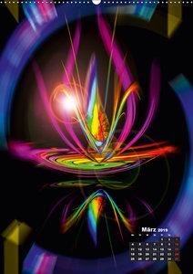 Blühende Fantasie - Digitalkunst (Wandkalender 2019 DIN A2 hoch)