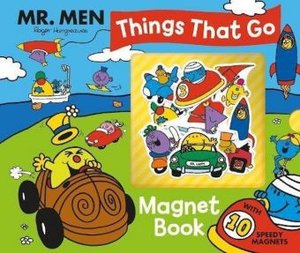 Mr Men Topsy-Turvy Transport Magnet Book