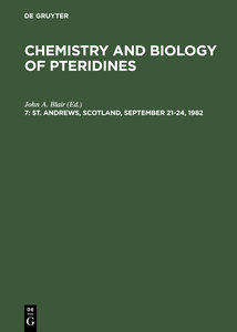 Chemistry and Biology of Pteridines, 7, St. Andrews, Scotland, S