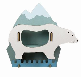 Kindergarderobe - Eisbär - zum Schließen ins Bild klicken