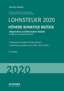 Tabelle, Lohnsteuer 2020 Höhere Sonstige Bezüge