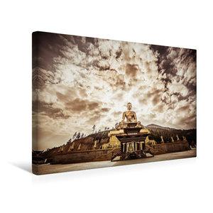 Premium Textil-Leinwand 45 cm x 30 cm quer Große Buddha Statue b