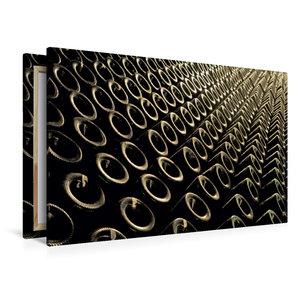 Premium Textil-Leinwand 120 cm x 80 cm quer Keller Flaschen