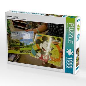 Kalender aus USA 2 1000 Teile Puzzle quer