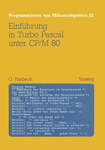 Einführung in Turbo Pascal unter CP/M 80