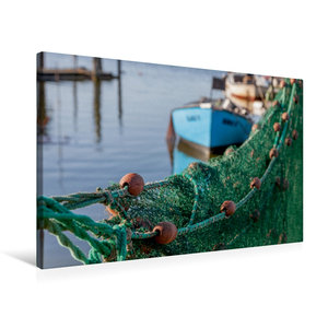 Premium Textil-Leinwand 75 cm x 50 cm quer Hafenromantik