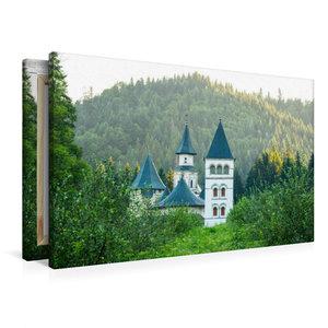 Premium Textil-Leinwand 90 cm x 60 cm quer Kloster Putna