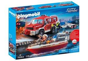 Feuerwehrfahrzeug mit Löschboot,Exkl. 19