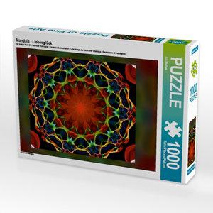 Mandala - Liebesglück 1000 Teile Puzzle hoch