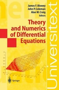 Theory and Numerics of Differential Equations