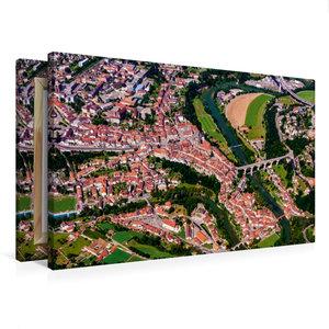 Premium Textil-Leinwand 75 cm x 50 cm quer Die Altstadt von Frib