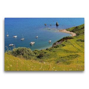 Premium Textil-Leinwand 75 cm x 50 cm quer Mupe Bay Dorset