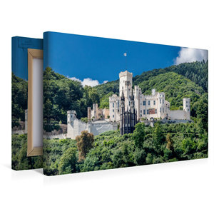 Premium Textil-Leinwand 45 cm x 30 cm quer Schloss Stolzenfels -