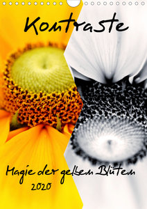 Kontraste Magie der gelben Blüten (Wandkalender 2020 DIN A4 hoch