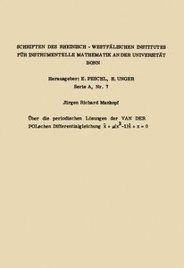 Über die periodischen Lösungen der van der Polschen Differential