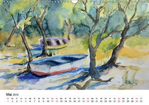 Mit Aquarellen durch das Jahr (Wandkalender 2019 DIN A3 quer)