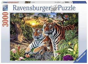 Ravensburger 170722 - Versteckte Tiger - Puzzle, 3000 Teile