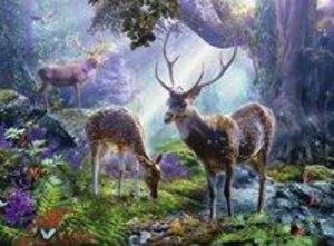 Hirsche im Wald Puzzle 500 Teile