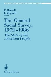 The General Social Survey, 1972-1986