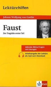 "Lektürehilfen Johann Wolfgang von Goethe ""Faust - Erster Teil"""
