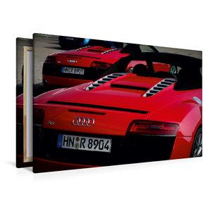 Premium Textil-Leinwand 120 cm x 80 cm quer Audi R8 V10 Spyder