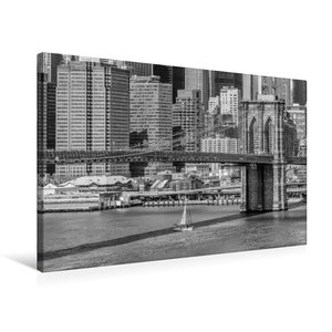 Premium Textil-Leinwand 75 cm x 50 cm quer NEW YORK CITY Brookly