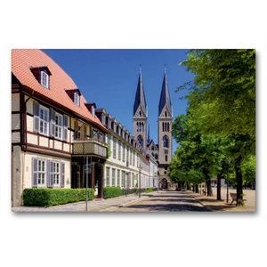 Premium Textil-Leinwand 90 cm x 60 cm quer Halberstadt