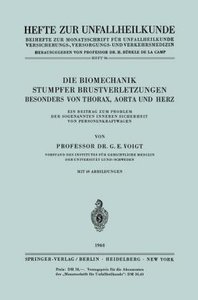 Die Biomechanik Stumpfer Brustverletzungen, Besonders von Thorax