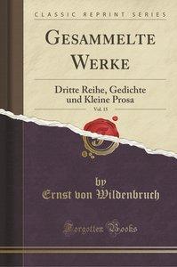 Gesammelte Werke, Vol. 15
