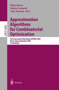 Approximation Algorithms for Combinatorial Optimization